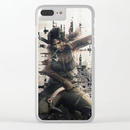 Lara Croft - Tomb Raider 2013 Clear iPhone Case