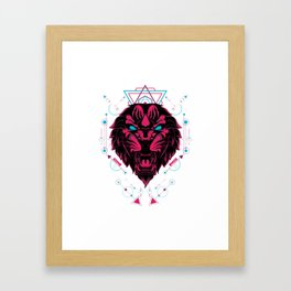The Tiger sacred geometry Framed Art Print