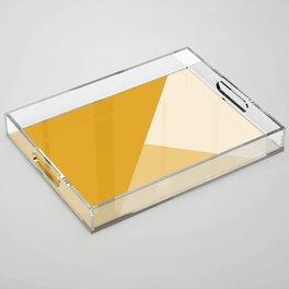 Mustard Tones Acrylic Tray