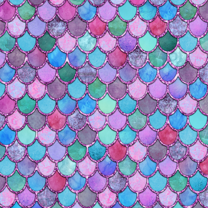 Colorful Pink Glitter Mermaid Scales Comforters