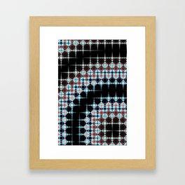 Dark Checkering Framed Art Print