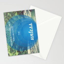 Unless | Blue Stationery Cards