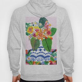 Abstract Flower Bouquet Hoody
