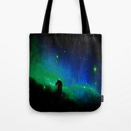 Horsehead nEBula. Blue & Green Tote Bag