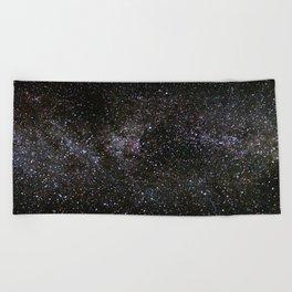 Milky Way Stars Beach Towel