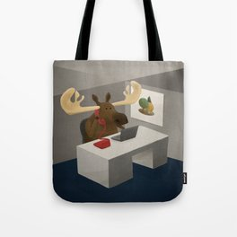 Maurice, the moose who wanted to work in an office Tote Bag