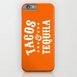 Tacos & Tequila (Orange) iPhone Case