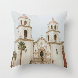 Spanish Mission, Arizona Throw Pillow
