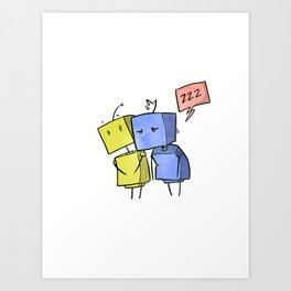 Cutebots: sleepybots Art Print