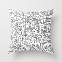Budapest X Throw Pillow