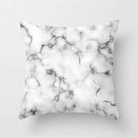 marble Throw Pillows featuring Marble by Will Wild