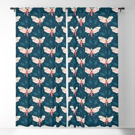 Pink Butterfly Blackout Curtain