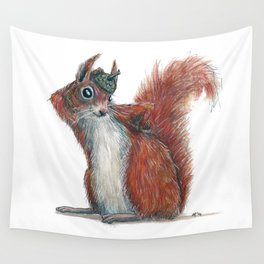 Squirrels' hat Wall Tapestry