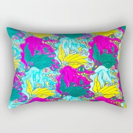 The Alligator Grins / The Peacock Weeps Rectangular Pillow
