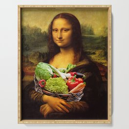 Mona Lisa Loves Vegetables Serving Tray