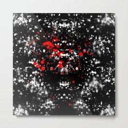 Splatter abstract Metal Print