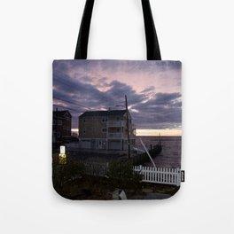 purple sunset in lbi Tote Bag