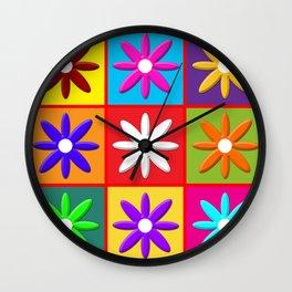 Pop Daisy Wall Clock