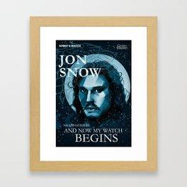 Kit Harington Poster Framed Art Print