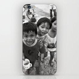 Vietnamese Children with a goldfish  iPhone Skin