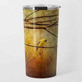 Yellow Songbird in Morning Prayer Travel Mug