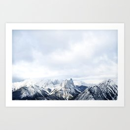 Looking out over the Rockies, in Banff Art Print