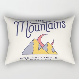 The Mountains are Calling Cool Adventure Travel Globetrotter Rectangular Pillow
