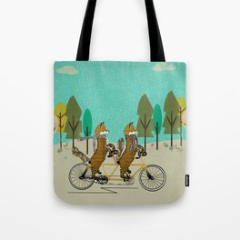 foxy days lets tandem Tote Bag