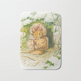 Cute little mouse dressed up Bath Mat