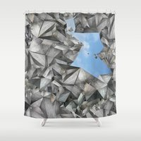 cage Shower Curtains featuring Urban Cage by Izuma/Double Room