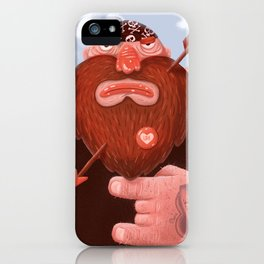 Biker in love iPhone Case