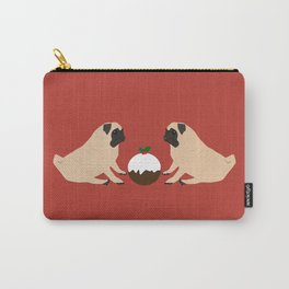 Christmas Pudding and Pugs Carry-All Pouch