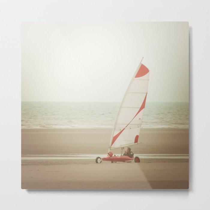 Char à voile yachting Metal Print