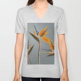 Strelizia - Bird of Paradise Flowers Unisex V-Neck