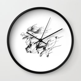 Caribou minute Wall Clock