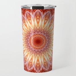 Mandala orange red no. 2 Travel Mug