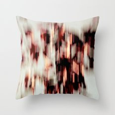 cascading colors Throw Pillow
