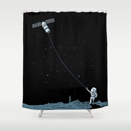 Satellite Kite Shower Curtain