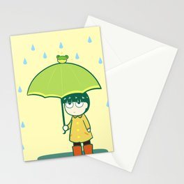 Frog Umbrella Stationery Cards