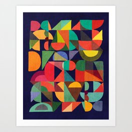Color Blocks Art Print