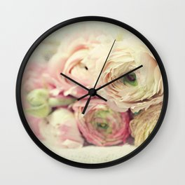 the palest pink Wall Clock