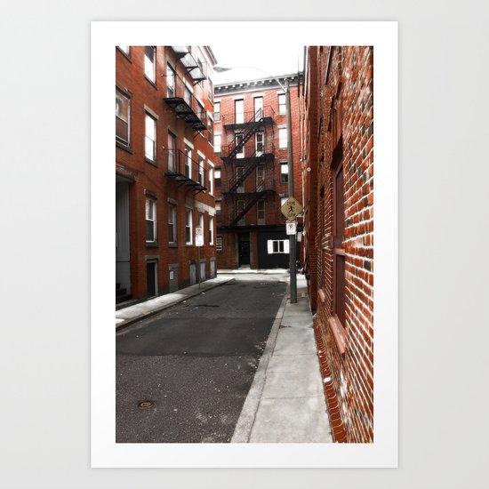 Boston North End Art Print