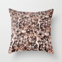 coachella Throw Pillows featuring Coachella by Kyle Baker's QUALITY JOLLITY