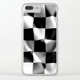 Chequered Flag Clear iPhone Case
