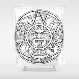 Pencil Wars Shield Shower Curtain
