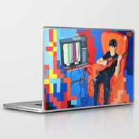 band Laptop & iPad Skins featuring PIXEL BAND by Kevin Whipple
