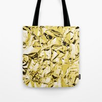 gold foil Tote Bags featuring Gold foil by lamottedesign