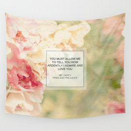 Mr. Darcy Proposal ~ Jane Austen Wall Tapestry