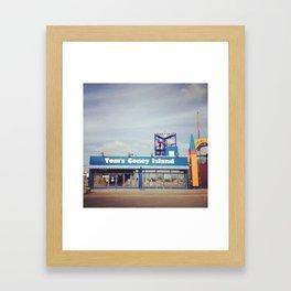 Tom's Coney Island Framed Art Print