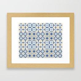 Mixed Portuguese Azulejos  Framed Art Print
